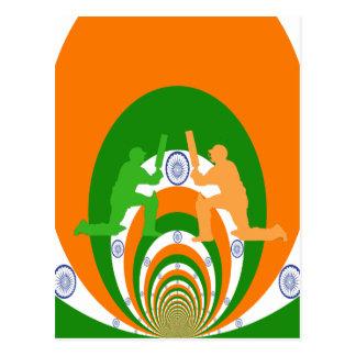 Cricket India Postcard