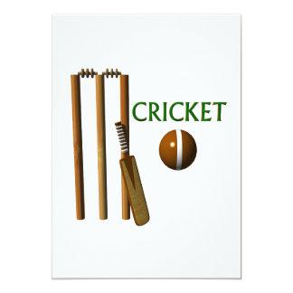 Cricket 5x7 Paper Invitation Card