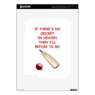 cricket iPad 3 decal