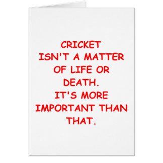 cricket joke card