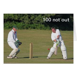 Cricket la 100a tarjeta de cumpleaños