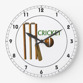 Cricket Large Clock