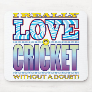 Cricket Love Face Mouse Pad