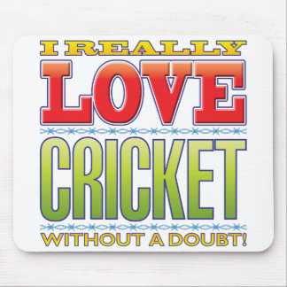 Cricket Love Mouse Pad