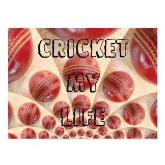 Cricket My Life I love Cricket sport Postcards