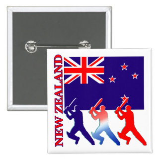 Cricket New Zealand Pinback Button