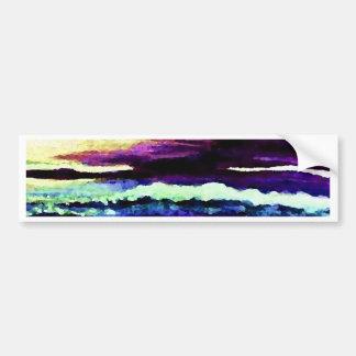 """Cricket Night Sea""  CricketDiane Ocean Art Bumper Sticker"