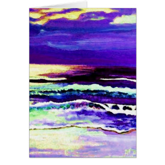 """Cricket Night Sea""  CricketDiane Ocean Art Card"