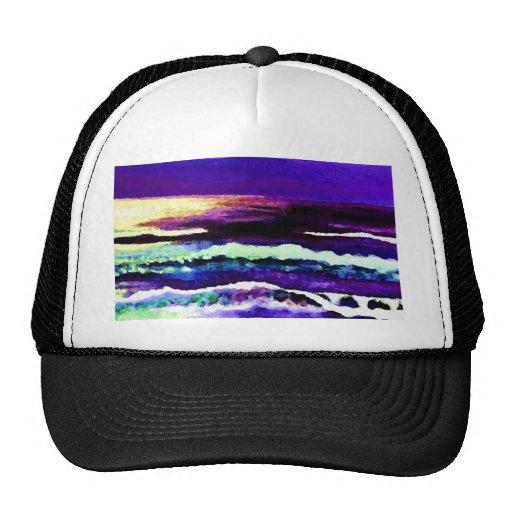 """Cricket Night Sea""  CricketDiane Ocean Art Trucker Hats"