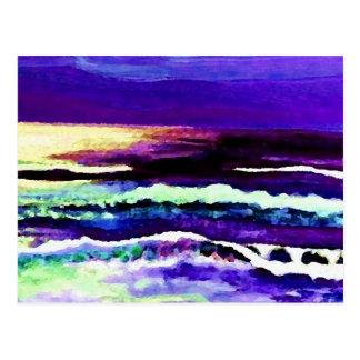 """Cricket Night Sea""  CricketDiane Ocean Art Postcard"