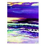 """Cricket Night Sea""  CricketDiane Ocean Art Postcards"