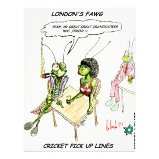 Cricket Pick-Up Lines Funny Gifts Tees Collectible Letterhead