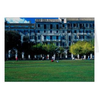 Cricket pitch on the esplanade, Corfu, Greece Cards