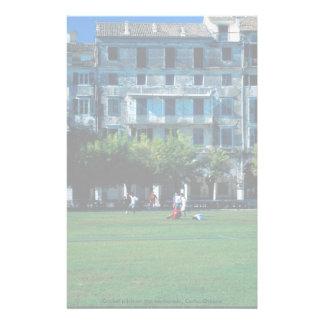 Cricket pitch on the esplanade, Corfu, Greece Custom Stationery