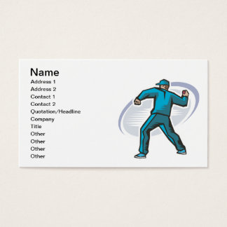 Cricket Pitcher Business Card