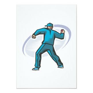 Cricket Pitcher 5x7 Paper Invitation Card
