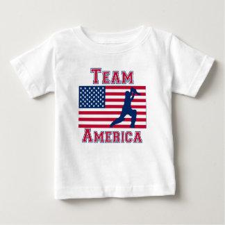 Cricket Player American Flag Team America Baby T-Shirt