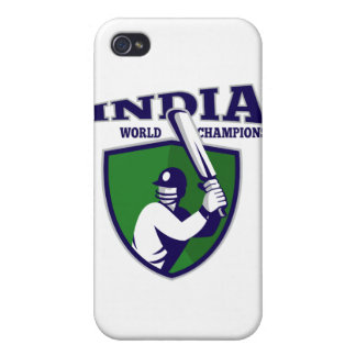 cricket player batsman shield india world champion covers for iPhone 4
