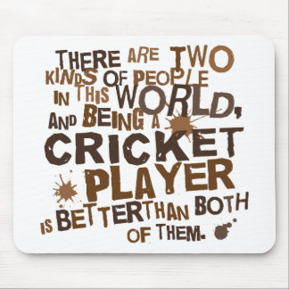 Cricket Player Gift Mouse Pad