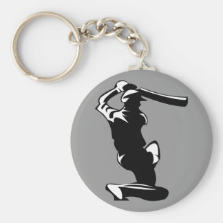 Cricket Player Key Chain