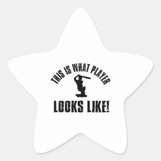 Cricket Player Looks Like Star Sticker