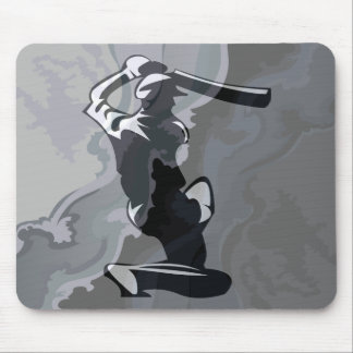Cricket Player Mouse Pad