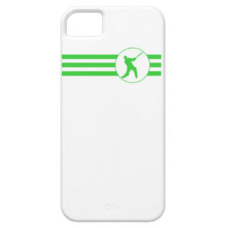 Cricket Player Stripes (Green) iPhone 5 Case