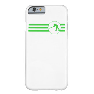 Cricket Player Stripes (Green) Barely There iPhone 6 Case