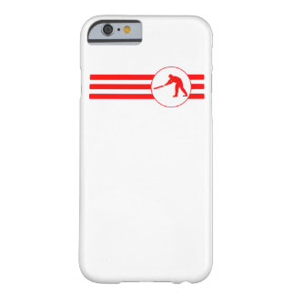 Cricket Player Stripes (Red) Barely There iPhone 6 Case