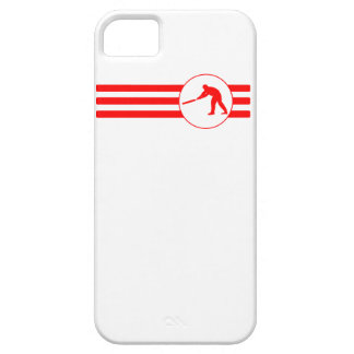 Cricket Player Stripes (Red) iPhone 5 Cover