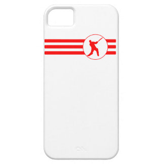 Cricket Player Stripes (Red) iPhone 5 Case