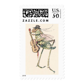 Cricket Playing the Fiddle Postage