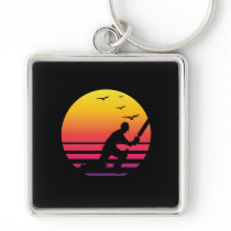 Cricket retro sunset, #Cricket Keychain