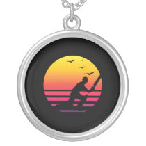 Cricket retro sunset, #Cricket Silver Plated Necklace