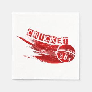Cricket Sixer Napkin