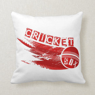 Cricket Sixer Throw Pillow