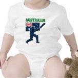 cricket sports batsman Australia flag T Shirts