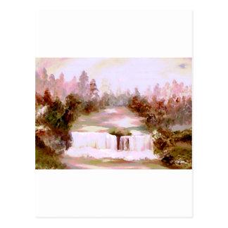 Cricket Waterfalls Romantic Waterfall Landscapes Postcard