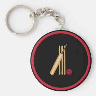 Cricket - Wicket, bat and ball Keychain