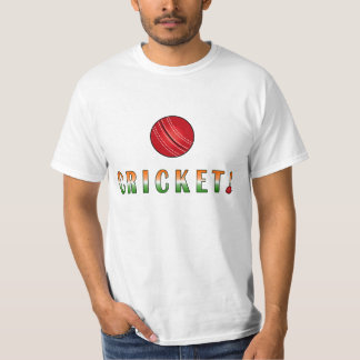 Cricket with Indian Colors T-shirt