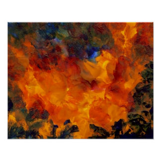 CricketDiane Abstract Art Poster - Flames