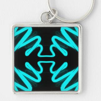 CricketDiane Art & Design Neon Turquoise Keychain