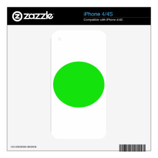 cricketdiane circle 1 neon green - 2 skin for iPhone 4