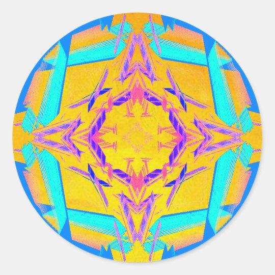 CricketDiane Extreme Designs Extreme Geometry Classic Round Sticker