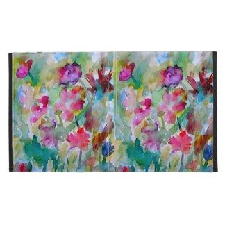 CricketDiane Flower Garden Abstract Watercolor Art iPad Folio Cover