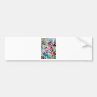 CricketDiane Flower Garden Watercolor Abstract Car Bumper Sticker