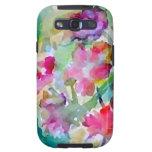 CricketDiane Flower Garden Watercolor Abstract Galaxy S3 Cases