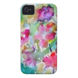 CricketDiane Flower Garden Watercolor Abstract iPhone 4 Case-Mate Case