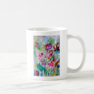 CricketDiane Flower Garden Watercolor Abstract Classic White Coffee Mug