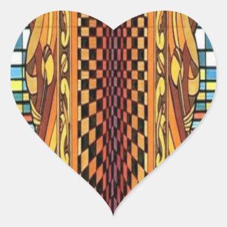 CricketDiane Geometrix Geometric Art Stuff Heart Sticker